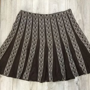 Style & co multi colored paneled  skirt (B-80)